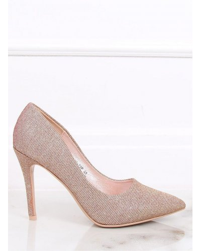 Pantofi din piele eco intoarsa roz Diandra