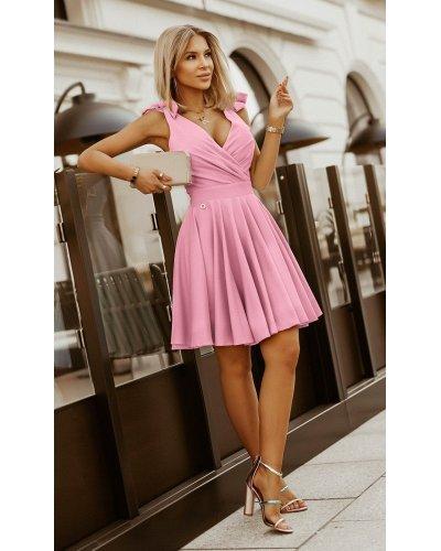 Rochie de ocazie scurta roz Katalina