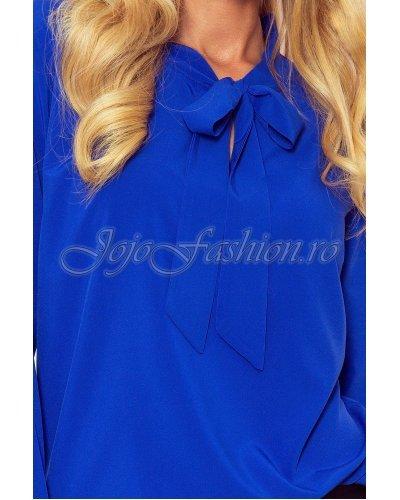 Bluza de dama cu vascoza albastra eleganta Ivana
