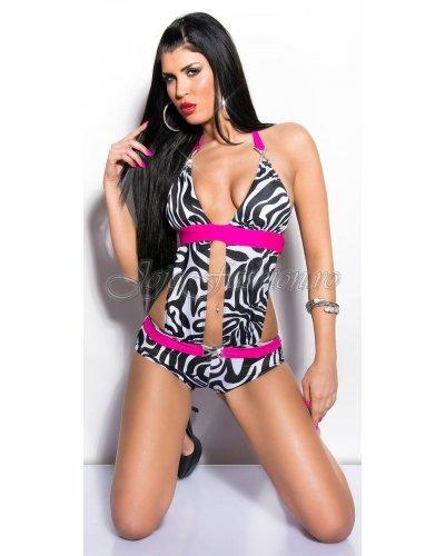 Costum de baie intreg animal print zebra Krissy