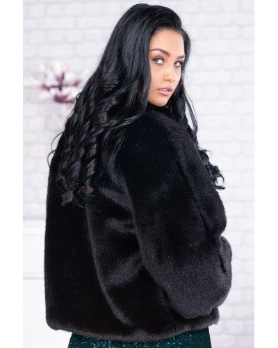 Capa blana eco neagra plus size Per Donna Kami