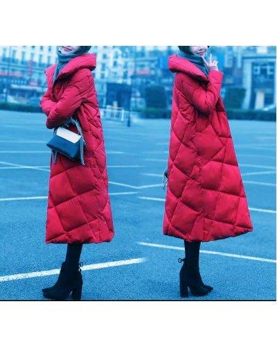 Geaca de dama de iarna lunga matlasata rosie Melek