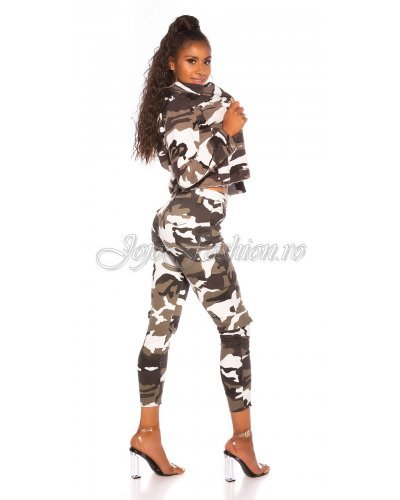Jacheta dama army print camuflaj Koucla Edina
