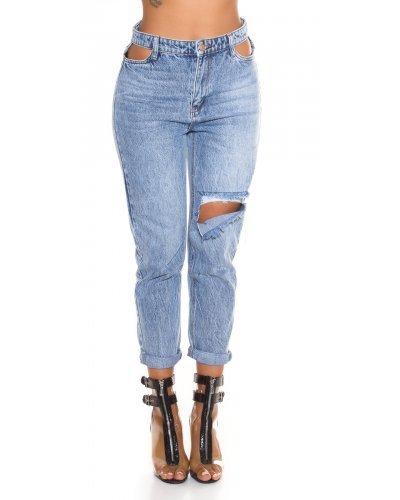 Jeans dama cropat cu talie inalta Rita
