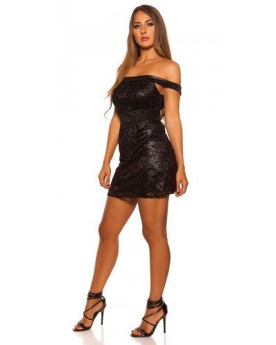 Rochie de seara scurta din dantela neagra Belinda