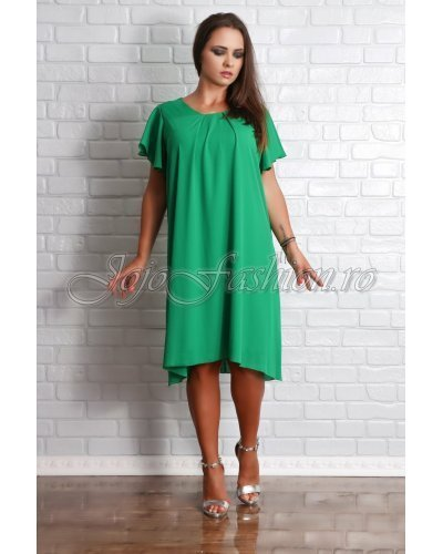 Rochie midi eleganta din voal verde Valeris