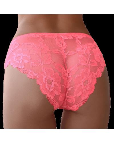 Chilot de dama croi clasic din dantela florala roz Lauren