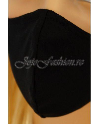 Masca fashion reutilizabila din bumbac negru 3 straturi Kriss