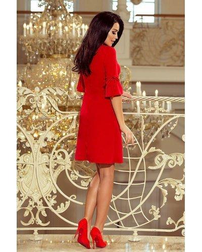 Rochie de zi scurta croi in A rosie Florenta