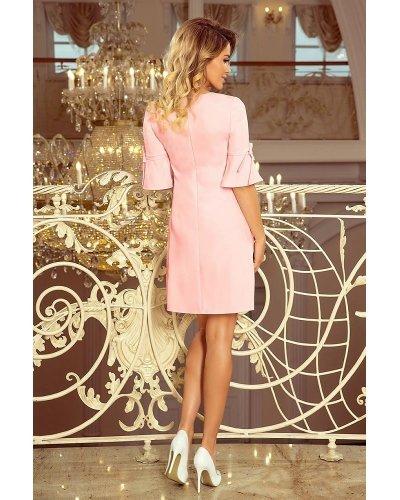 Rochie de zi scurta croi in A roz pal Florenta