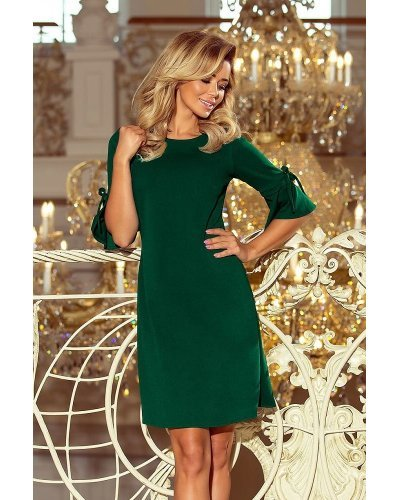 Rochie de zi scurta croi in A verde Florenta