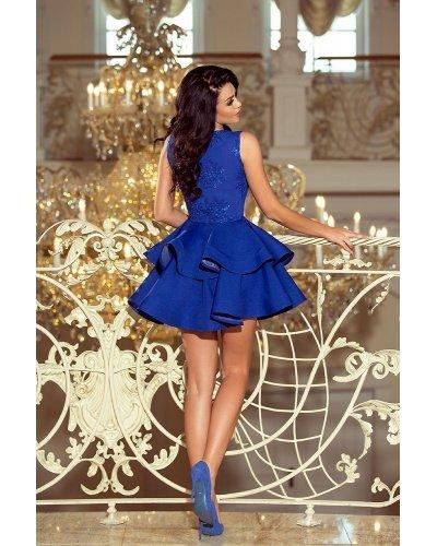 Rochie eleganta scurta albastra baby doll Ania