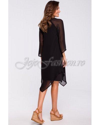 Rochie de ocazie lejera eleganta neagra din voal negru Nairi
