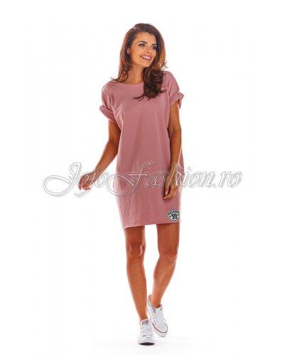 Rochie de zi sport roz Olimpia