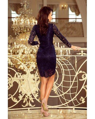 Rochie de seara bleumarin din dantela Sofia
