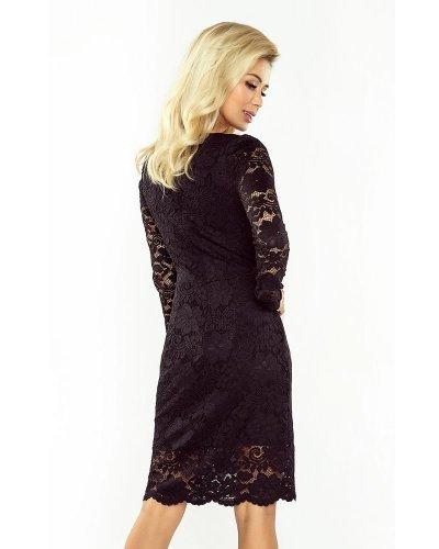 Rochie de seara neagra din dantela Sofia