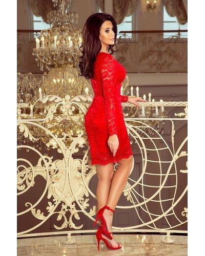 Rochie de seara rosie din dantela Sofia