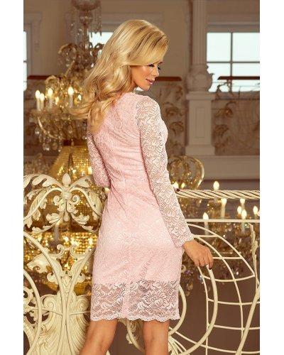 Rochie de seara roz din dantela Sofia