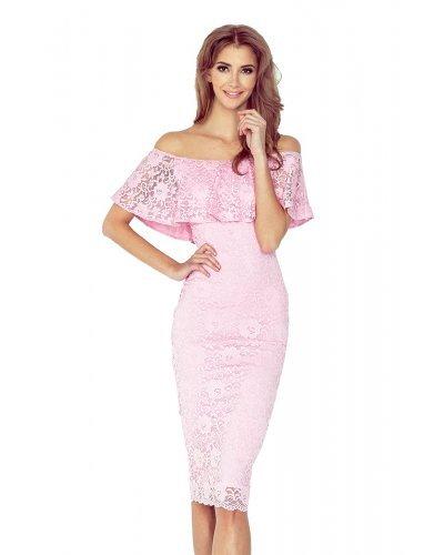 Rochie de seara roz din dantela Yvonne