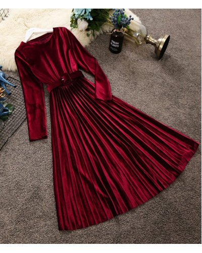 Rochie de ocazie midi din catifea burgundy plisata Aryanne