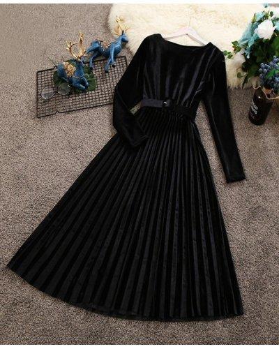 Rochie de ocazie midi din catifea neagra plisata Aryanne