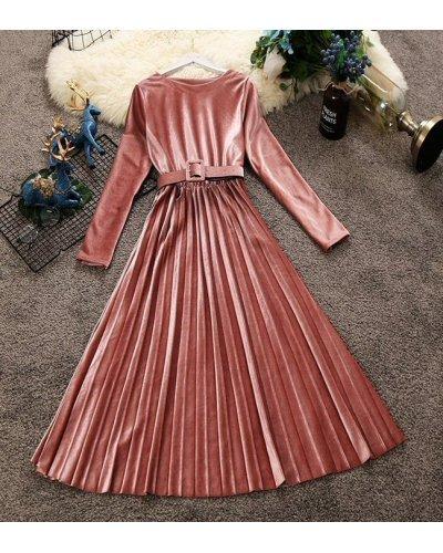 Rochie de ocazie midi din catifea roz pudra plisata Aryanne