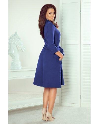 Rochie de zi tip camasa albastra evazata Melina