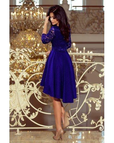 Rochie de ocazie eleganta asimetrica albastru regal Anastasia