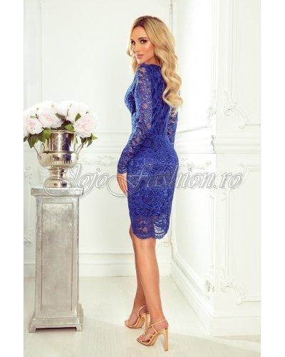 Rochie de seara midi din dantela albastra Sofia