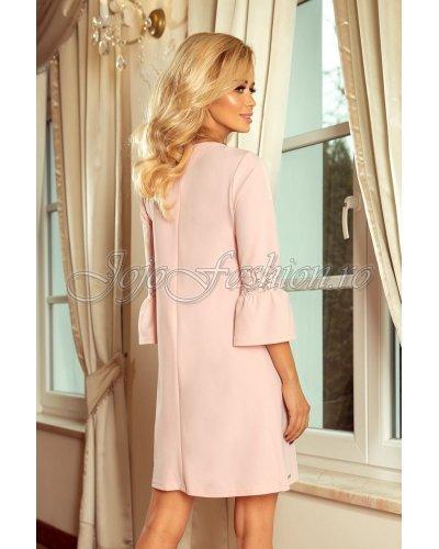 Rochie de zi eleganta croi in A roz pal Agatha