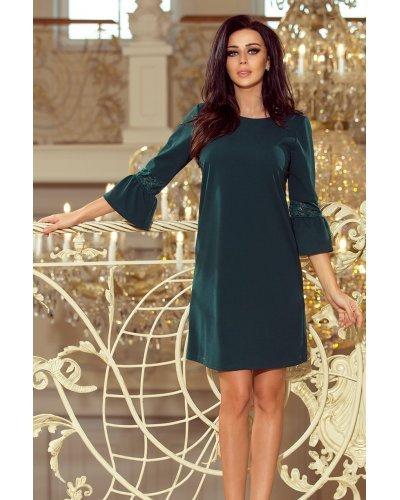 Rochie de zi eleganta croi in A verde Agatha