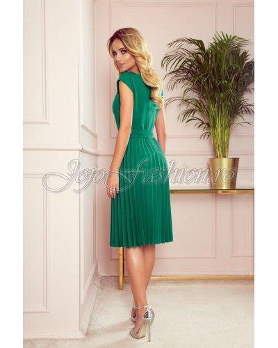 Rochie de zi eleganta verde midi plisata Karima