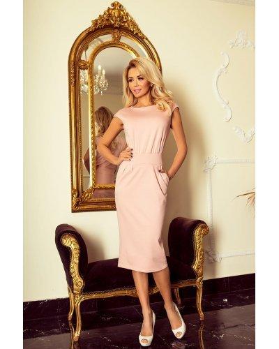 Rochie de zi roz midi tip creion  Jeanine