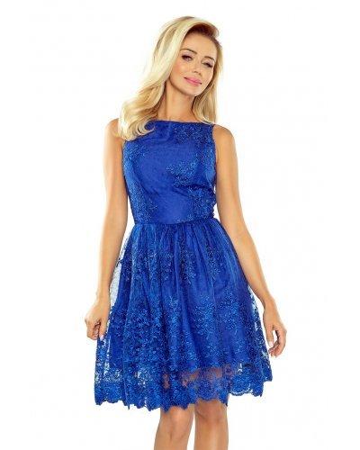 Rochie de seara albastra cu broderie Oreia