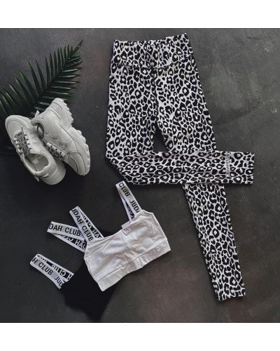Colanti dama animal print leopard alb negru Nazia