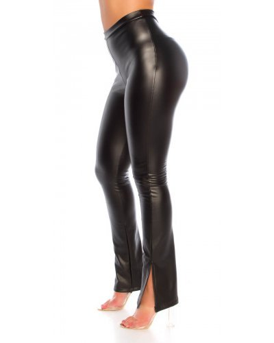 Pantaloni dama mulati piele eco negri Lokma