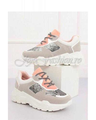 Pantofi sport dama print sarpe cu platforma Serena
