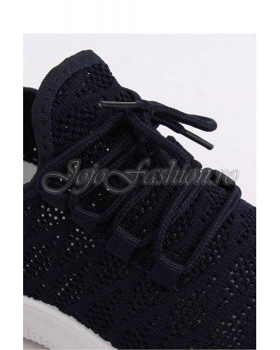 Pantofi sport negri dama cu platforma Riana