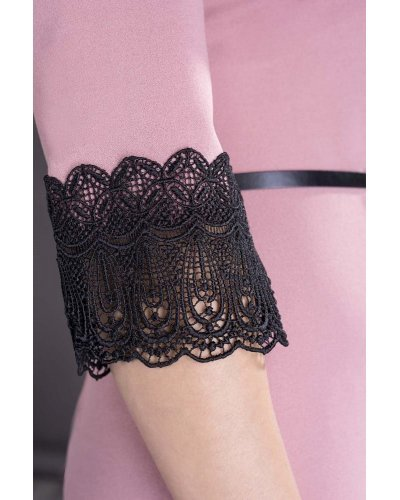 Rochie de zi midi roz pal Tatiana