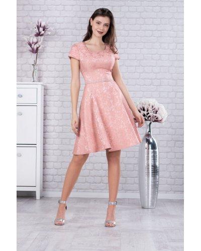 Rochie de ocazie clos dantela roz de Maribela