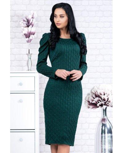 Rochie tricotata midi verde smarald Per Donna Raluca