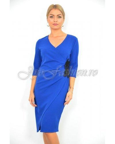 Rochie de ocazie eleganta suprapusa albastru regal Olivia