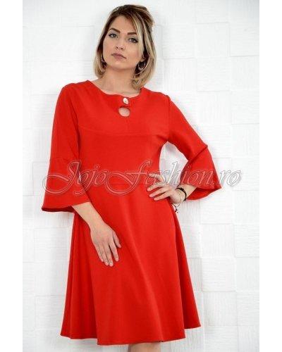 Rochie de zi eleganta midi croi A rosie Nedia