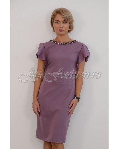 Rochie de zi midi eleganta lila Carleen