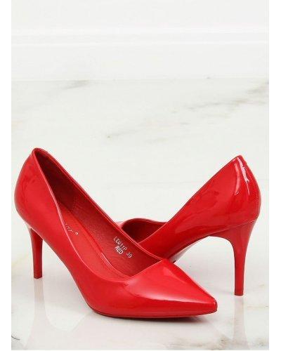 Pantofi de dama stiletto rosii din piele eco lacuita Miruna