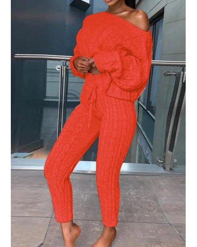 Compleu dama tricotat portocaliu neon Lorra