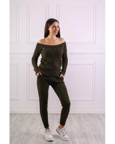 Compleu dama sport kaki tricotat Myra