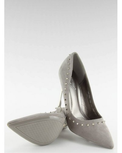Pantofi de dama stiletto gri Amely