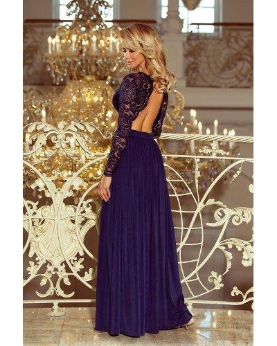 Rochie eleganta de seara lunga din dantela Zonia