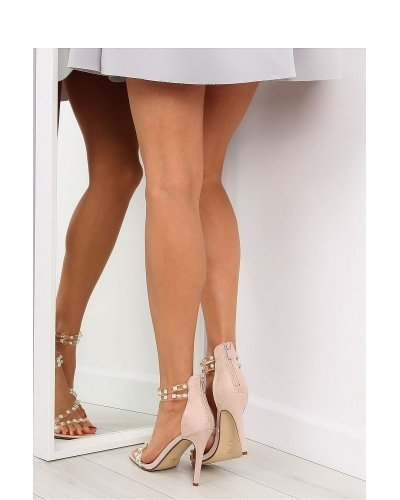 Sandale piele nude eco toc subtire Vera